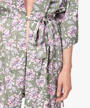 Veste d'intérieur femme à motifs fleuris vue2 - GEMO(HOMWR FEM) - GEMO