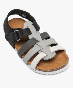 Sandales bébé garçon en cuir fermeture scratch vue5 - GEMO(BEBE DEBT) - GEMO