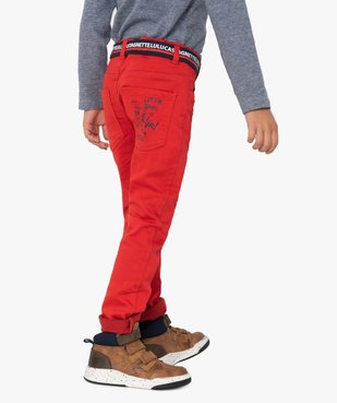 Pantalon garçon en toile avec ceinture – Lulu Castagnette vue1 - LULUCASTAGNETTE - GEMO