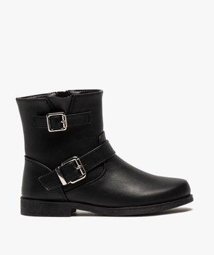 Boots fille unis avec boucles fantaisies fermeture zippée vue1 - Nikesneakers (ENFANT) - Nikesneakers