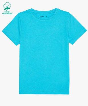 Tee-shirt garçon uni à manches courtes vue1 - GEMO C4G GARCON - GEMO