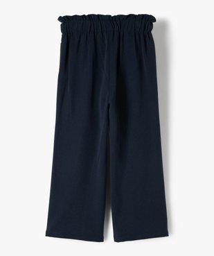Pantalon fille large à taille haute élastiquée - Lulu Castagnette vue3 - LULUCASTAGNETTE - Nikesneakers