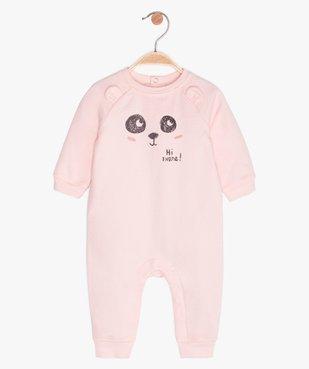 Combinaison bébé sans pieds à motif panda vue1 - GEMO(BB COUCHE) - GEMO