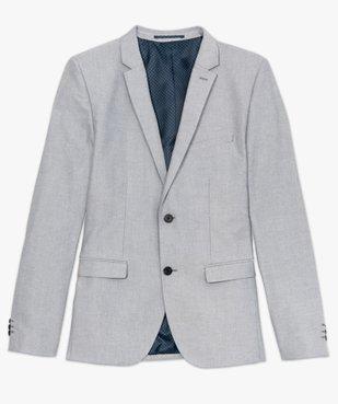 Veste de costume homme avec coudières contrastantes vue4 - GEMO (HOMME) - GEMO