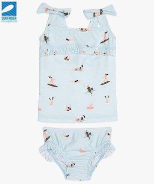 Maillot de bain bébé fille 2 pièces tankini motifs surfeuses en polyester recyclé - Gémo x Surfrider vue1 - SURFRIDER DTR - Nikesneakers