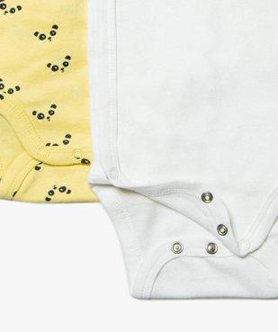 Body bébé garçon avec motifs pandas (lot de 3) vue2 - GEMO(BB COUCHE) - GEMO