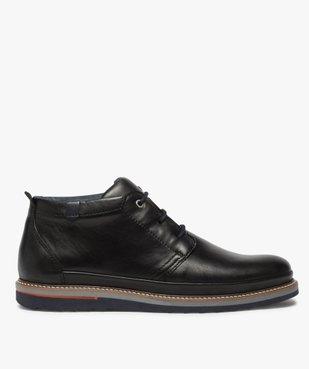 Boots homme lacés en cuir souple et semelle sport vue1 - GEMO(URBAIN) - GEMO