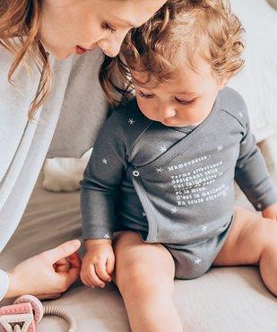 Body bébé à manches longues ouverture devant (lot de 3) vue6 - GEMO C4G BEBE - GEMO