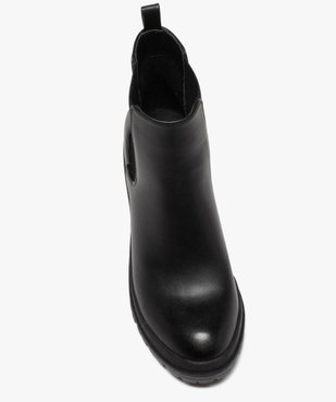 Boots femme unis à talon carré et semelle crantée vue5 - GEMO(URBAIN) - GEMO