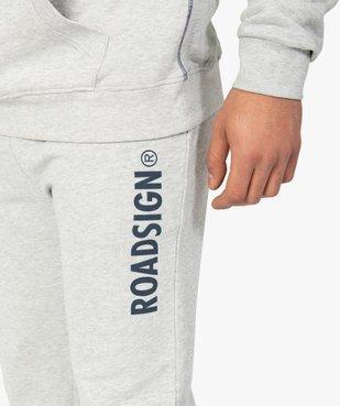 Pantalon de jogging homme en maille imprimée - Roadsign vue2 - ROADSIGN - Nikesneakers