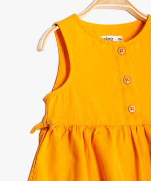 Robe bébé fille sans manches en Lyocell vue2 - GEMO (ENFANT) - GEMO