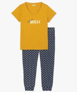 Pyjama femme avec message humoristique vue4 - GEMO(HOMWR FEM) - GEMO
