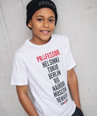 Tee-shirt garçon imprimé - La Casa de Papel vue4 - CASADEPAPEL - GEMO