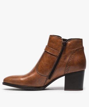 Boots pour femme avec bride et boucle métallique sur le côté vue3 - GEMO(URBAIN) - GEMO