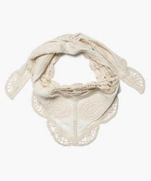 Foulard femme triangulaire en maille crochetée vue1 - Nikesneakers (ACCESS) - Nikesneakers