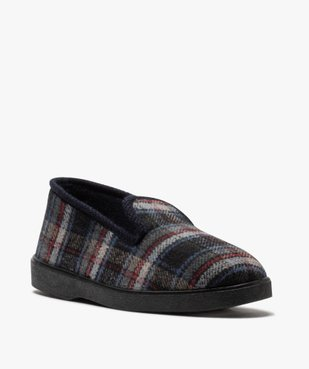 Chaussons pour homme style charentaises à carreaux vue2 - Nikesneakers C4G HOMME - Nikesneakers