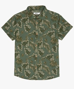 Chemise garçon à motifs tropicaux et manches courtes vue3 - GEMO (ENFANT) - GEMO