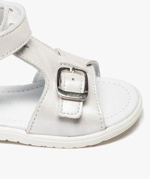 Sandales bébé fille unies en cuir avec reflets irisés vue6 - GEMO(BEBE DEBT) - GEMO