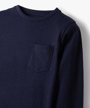 Tee-shirt garçon manches longues à poche poitrine vue3 - GEMO C4G GARCON - GEMO