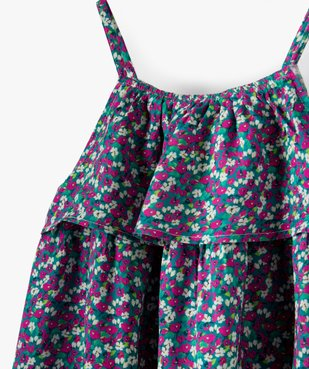 Robe fille à fines bretelles et volant sur le col vue2 - Nikesneakers (ENFANT) - Nikesneakers