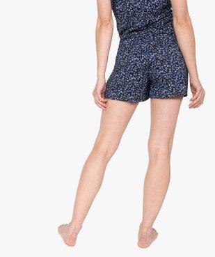 Bas de pyjama femme à motifs fleuris – Lulu Castagnette vue3 - LULUCASTAGNETTE - GEMO
