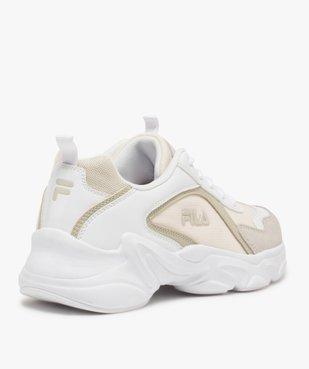 Baskets femme à semelle épaisse look dad shoes - FILA avec détail verni au talon vue4 - FILA - GEMO