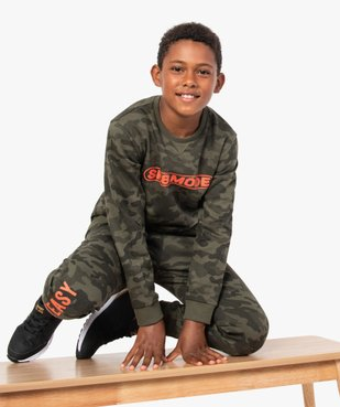 Sweat garçon à motif camouflage vue5 - GEMO (ENFANT) - GEMO