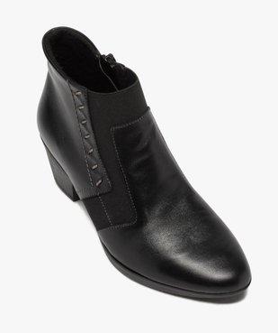 Boots femme confort à talon dessus cuir vue5 - GEMO (CONFORT) - GEMO