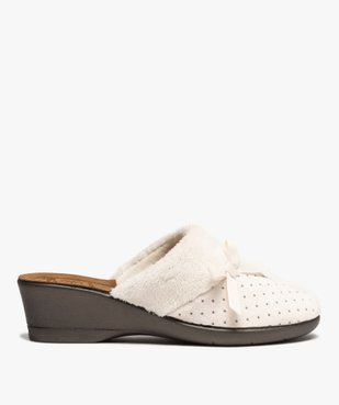 Chaussons femme mules à talon dessus velours vue1 - Nikesneakers(HOMWR FEM) - Nikesneakers