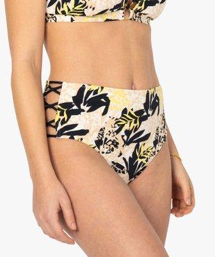 Bas de maillot de bain femme avec liens sur les hanches vue1 - GEMO (PLAGE) - GEMO