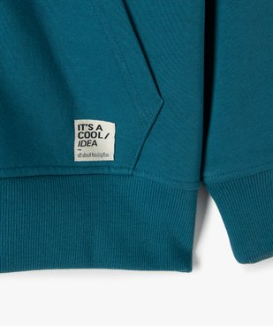 Sweat garçon à capuche avec fermeture zippée vue2 - GEMO (JUNIOR) - GEMO