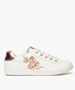 Baskets fille avec motif rose brodé et lacets rubans vue1 - Nikesneakers (ENFANT) - Nikesneakers