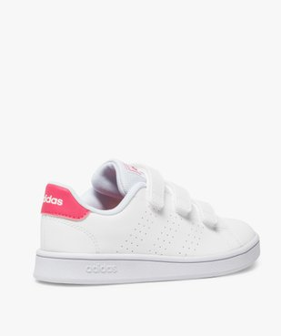 Baskets fille unies trois bandes scratch – Adidas vue4 - ADIDAS - Nikesneakers