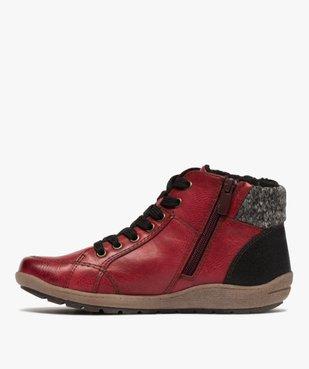 Boots femme à lacets et zip col en maille – Softrelax vue3 - SOFTRELAX - GEMO