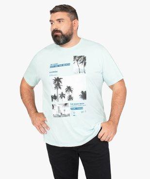 Tee-shirt homme avec motif palmiers à Miami vue1 - GEMO (G TAILLE) - GEMO