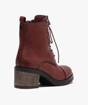 Boots femme unies à talon carré et zip décoratif vue4 - GEMO(URBAIN) - GEMO