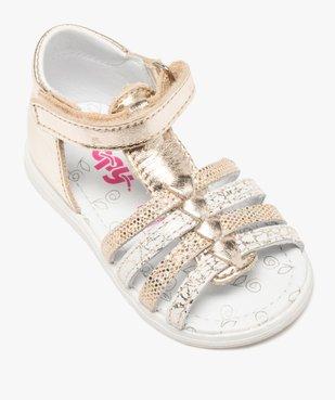 Sandales bébé fille en cuir métallisé - Bopy vue5 - BOPY - GEMO