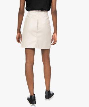 Jupe femme droite avec pinces à la taille vue4 - GEMO(FEMME PAP) - GEMO