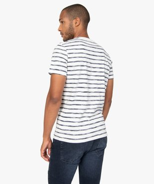 Tee-shirt homme à rayures graphiques vue3 - GEMO (HOMME) - GEMO