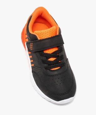 Baskets garçon bicolores à scratch + sac de gym offert vue6 - GEMO (ENFANT) - GEMO