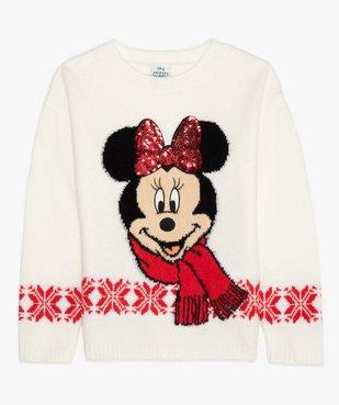 Pull de Noël fille imprimé Minnie avec sequins brodés - Disney vue1 - DISNEY DTR - Nikesneakers