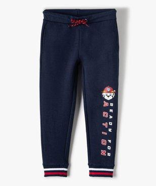 Pantalon de jogging garçon avec inscription – Pat Patrouille vue1 - PAT PATROUILLE - GEMO
