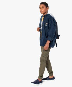 Pantalon garçon coupe cargo vue6 - GEMO (ENFANT) - GEMO