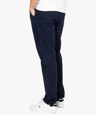 Pantalon homme chino stretch en maille piquée vue3 - GEMO (HOMME) - GEMO