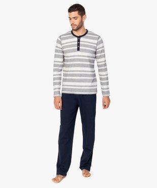 Pyjama homme 2 pièces tee-shirt et pantalon dépareillés vue1 - GEMO(HOMWR HOM) - GEMO