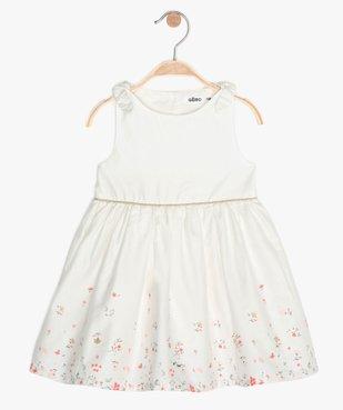Robe bébé fille avec bretelles nouées et motifs fleuris vue1 - GEMO (ENFANT) - GEMO