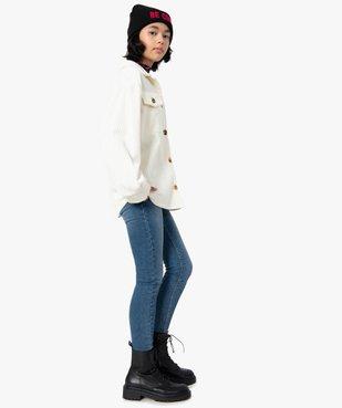 Veste fille en velours côtelé aspect chemise vue5 - GEMO (JUNIOR) - GEMO