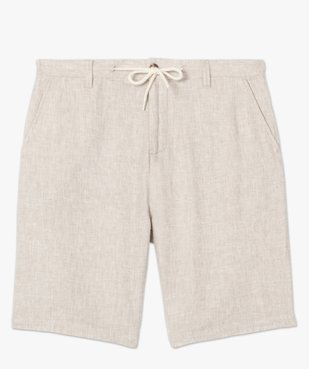 Bermuda homme en lin et coton avec ceinture cordon vue4 - Nikesneakers (HOMME) - Nikesneakers