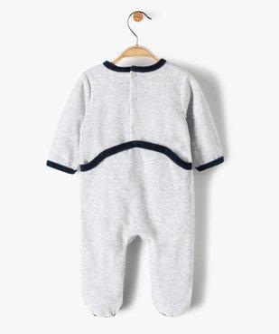 Pyjama bébé garçon en velours avec motif camion de pompiers vue4 - GEMO(BB COUCHE) - GEMO