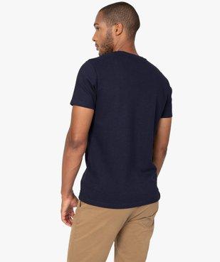 Tee-shirt homme 100% coton biologique en maille texturée vue3 - GEMO (HOMME) - GEMO